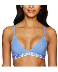 619d8586bff Calvin Klein - Id Cotton Large Waistband Triangle Unlined Bra - Lyst