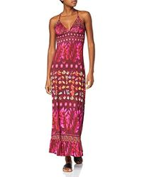 Desigual Dress Straps Greta Woman Purple Robe Femme