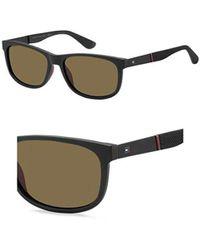 040d794b777 Lyst - Tommy Hilfiger Black Tanner Wayfarer Sunglasses in Black for Men