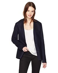 Lacoste - Easy Chic Wool Program Double Face Structured Jacket - Lyst