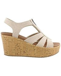 9f18a6a0c990 Lyst - Lucky Brand Lattela Quarter Strap Wedge Sandal - Save 11%