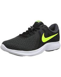 Unisex Adults Zapatillas De Running Revolution 4 Eu Blackvolt Anthracite Fitness Shoes