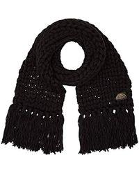 Levi's - Chunky Knit Oversized Scarf (noir Regular Black 59), One (manufacturer Size: Un) - Lyst