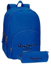 Pepe Jeans - Harlow Zaino, 42 cm, 19.44 liters, Blu (Azul) - Lyst