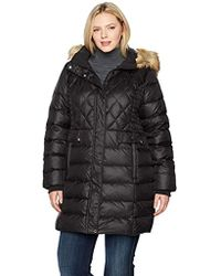 Jones New York - Plus Size Coat With Quilted Detailing - Lyst