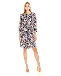 Nine West - Ruched Dress With 3/4 Slvs - Lyst