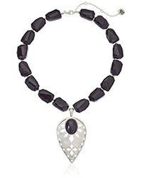 "The Sak - Beaded Collar Pendant Necklace, 16"" - Lyst"