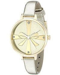 Kate Spade - 1yru0878 Metro Analog Display Japanese Quartz Gold Watch - Lyst