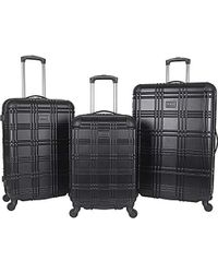 """Ben Sherman - Abs 4-wheel 3-piece Nested Set Luggage: 20"""" Carry-on, 24"""", 28"""" - Lyst"""
