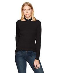 Guess - Long Sleeve Dayana Choker Top - Lyst