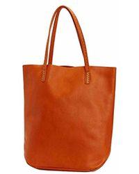 Frye - Naomi Pickstitch Leather Tote Handbag - Lyst