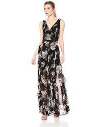 BCBGeneration - Cascade Ruffle Maxi Dress - Lyst