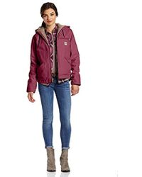 fdb8280e59e89 Carhartt Camo-lined Sandstone Active Jacket in Red - Lyst