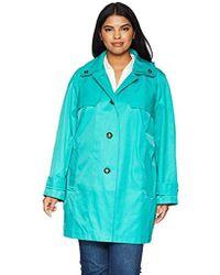 London Fog - Plus Size Double Shoulder Flap Rain Coat - Lyst