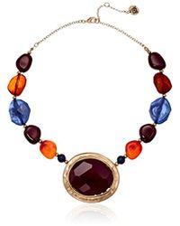 "The Sak - S Bead Stone Collar Necklace 16"" - Lyst"