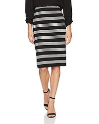 Adrianna Papell - Stripe Knit Pencil Skirt - Lyst