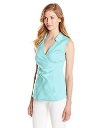 NYDJ - Fit Solution Sleeveless Wrap Top - Lyst