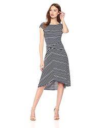 Max Studio - Knit Cap Sleeve Hi-lo Dress - Lyst
