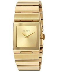 Nixon - 'lynx' Quartz Metal And Stainless Steel Watch, Color:gold-toned (model: A1092502-00) - Lyst