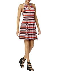 Kensie - Regular Sandbox Stripes Dress - Lyst