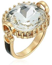 Guess - S Cocktail Ring With Stones, Gold, One Size - Lyst