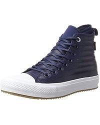 Converse CTAS WP Boot Hi Midnight Navy/Wolf Grey, Baskets Hautes Mixte Adulte - Bleu