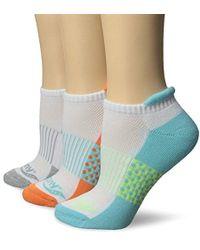 Saucony - 3 Pack Polka Dot No Show Athletic Sport Peformance Socks - Lyst