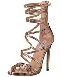 271c5635a34 Lyst - Steve Madden Satire Strappy Sandal in Metallic