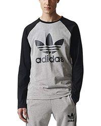 adidas Originals - Long Sleeve Trefoil Tee - Lyst