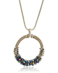 """Kenneth Cole - """"hematite Items"""" Hematite And Tonal Beaded Pendant Necklace - Lyst"""
