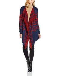 Vero Moda - Sui Lia Printed Drapey Cardigan - Lyst