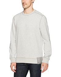 CALVIN KLEIN 205W39NYC - Jeans Ckj Chest Logo Crewneck Sweatshirt With Raw Edge Seams - Lyst