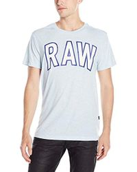 0760a49557 G-Star RAW Elevor T-shirt White Heather in Gray for Men - Lyst