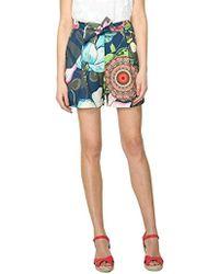 Desigual - Flores 2 Shorts - Lyst