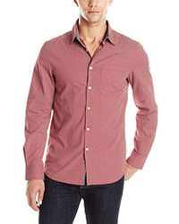 Kenneth Cole Reaction - Long Sleeve Printed Shirt - Lyst