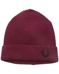 True Religion - Ribbed-knit Watch Cap - Lyst