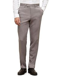 Kenneth Cole Reaction - Urban Heather Slim-fit Flat-front Dress Pant - Lyst