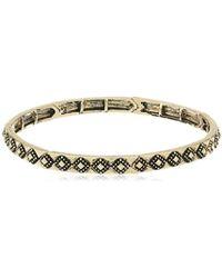 BCBGeneration - Textured Diamond Stretch Bracelet - Lyst
