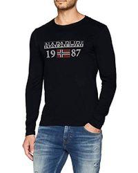 Napapijri - Solin Ls T-shirt - Lyst