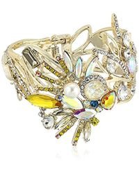 Betsey Johnson - S Yellow And Gold Bird Bangle - Lyst