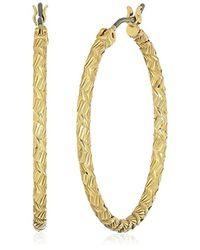 Nine West - 60467938-g03 Tone Hoop Earrings - Lyst