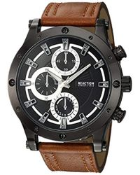 Kenneth Cole Reaction - Quartz Metal Casual Watch, Color Brown (model: Rkc0220003) - Lyst