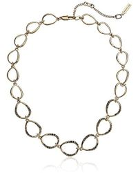 Kenneth Cole - Scattered Pave Gold Tone Open Link Collar Necklace - Lyst