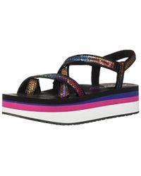 Skechers - Whip It-fest-sequined Toe-loop Platform Sandal - Lyst