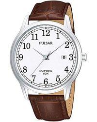 Seiko - Pulsar Uhren PS9055X1 - Orologio da polso uomo, pelle, colore: marrone - Lyst