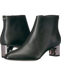 Calvin Klein - Mimette Leather Ankle Boot - Lyst