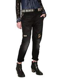 Desigual - Black Cotton Jeans - Lyst