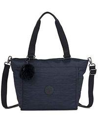 ec429481dcddc Kipling New Shopper L in Blue - Save 30% - Lyst