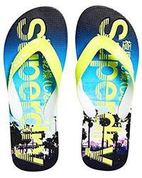 Superdry - 's Aop Flip Flops - Lyst