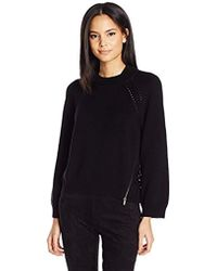 Dolce Vita - Reese Solid Long Sleeve Sweater With Back Detailing - Lyst